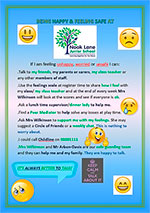Being happy & keeping safe at Nook Lane Junior School Poster